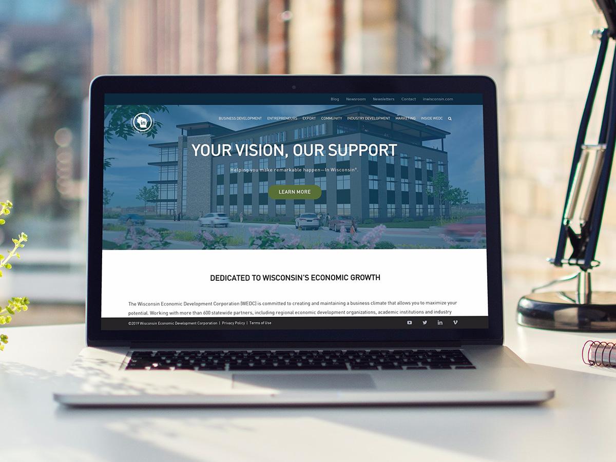 Wisconsin Economic Development Corporation Website